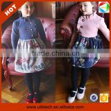 Hot fashion korean kids clothes wholesale,100-140 cm girls autumn casual dress (Ulik-A0392)