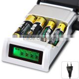 C905W C905 4 Slots Slot LCD Display Smart Intelligent Battery Charger for AA AAA NiCd NiMh Batteries