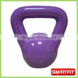 8 kg purple color vinyl dippping kettle bell steel kettlebell with painting OEM service available