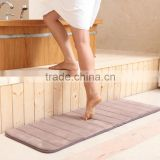 Water absorbent coral fleece memory foam thick sponge non-slip microfiber bathroom mats for living room and kitchen floor
