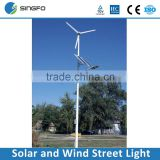 High Efficiency Cheap Price Factory Direct Pricing 8M Hybrid Solar and Wind LED Street Light with Battery