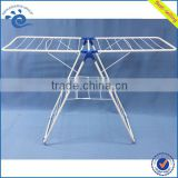 Metal Tube Powder Coating Folding Clothes Rack 135*56*90CM Indoor Portable Metal Tube Bathroom Clothing Rack Foldable