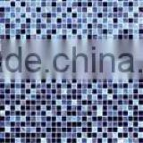 thickness 4mm flat surface shading glass mosaic for interior bathroom kitchen living room wall art tile