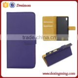 Manufactor Desimon card slot Practical leather cover case for Sony Xperia Z5