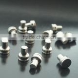 high Quality rivet weld contact Silver Tungsten Braze Welding for Relay Thermostat Switch approved SGS