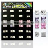 square cut magnetic 925 sterling silver earrings