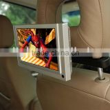 "Promotional 7 "" LCD usb Car video display player ,headrest taxi pop advertising display"