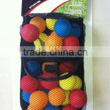 two layers new design convenient mesh golf ball bag