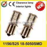 12V /24V Amber/White Switchback LED Bulbs SMD S25 5050 1210 3528 5730 20smd DRL/Turn, turn signal light
