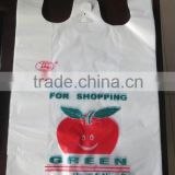cheap HDPE Plastic T-shirt bags used in supermarket and grocery,reasonable price