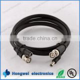 RoHs compliant DC plug male and femal to RG59 BNC coaxial cable harness length costomized