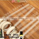 Stock Promotional New fashion white transparent lace PVC masking tape/cute adhesive tape / DIY sticker label/wholesale