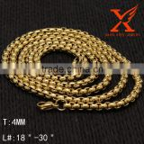 "Wholesale Chunky Top Quality Fake Gold Plated Stainless Steel Link Chain Necklace for Length 18"" 20"" 24"" 28"" 30"" 36""                                                                         Quality Choice"