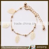 China supplier hot sale bell and leaf anklets for women