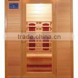 healthland far infrared indoor sauna room, ceramic heater, 2 person, wood sauna cabin, dry sauna