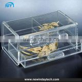 pecial storage drawer box for cosmetic, high quality handmade clear jewelry acrylic makeup organizer