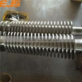 Best quality rotating barrel and screw for extruder for plastic pipe frp square plastic pipe