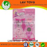 LV0141533 funny jewelry set child play beauty toys plastic jewelry play toy set for kids