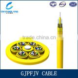 Aramid yarn strength member single mode all dielectric stranded GJPFJV 96 core fiber optic cable