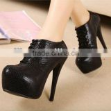 2016 hot selling fashion girls winter high heel ankle boots PF2211