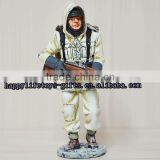 Collectible 7cm mini metal military soldier, soldier statue , pewter soldier figure