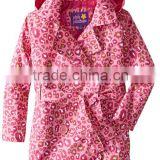 Guangzhou Garments Manufacturer Animal Printed kids winter coats, trench coat Custom