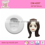 CQ New pattern 3D Baby girl head fondant cake decoration silicone mold DIY craft silicone cake molds
