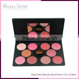 Hot selling make up palette eyeshadow 10 colors make up eyeshadow with 1pcs blusher palette