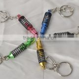 Wholesale metal key chains/ Coilover Keychains, Auto Part Model Automotive Accessories Shock Absorber Keychain Keyring