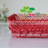 set 3 decorative wooden fruit basket