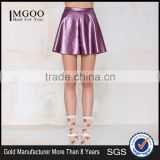 MGOO Popular OEM Services Women Shiny Purple Up Skirt For Cheerleader A lIne Mini Pleated Skirts 15144B336