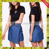 2017 spring summer fashion cutstom sexy mini short jeans blue denim skirt for women wholesale china