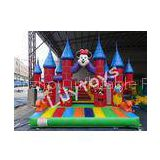 PVC Customized Commercial Inflatable Bouncers Rentals , Bounce Castle With Quadruple Stitched