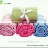 Cotton Material Crochet Knit Baby Blanket Cotton Massage Waffle Weave Baby Towelling Blanket
