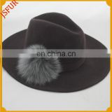Fox Fur Pom Pom In Fedora Wholesale Top Hats Mods
