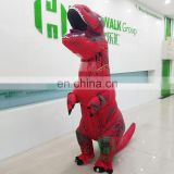 HI high quality water proof woven dacron realistic dinosaur funny inflatable fat costume