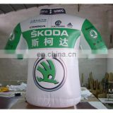 Inflatable advertising Replica/inflatable green and white T-shirt with full digital printing