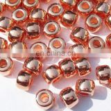 Metallic Plated Acrylic Beads, Copper Coated, size 4x6mm