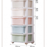 Assorted Colors Home storage cabinet rack multi layers PP plastic plastic drawer