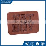 factory direct sale first-class embossed jeans pu leather labels design