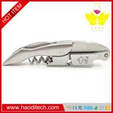 Sommelier Stainless Steel Waiters Corkscrew- Professional All in One Bottle Opener and Foil Cutter