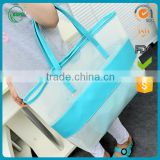 Promotioal Beautiful Pvc Button Closure Bag / Fashion Lady Bags