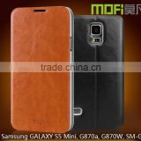 MOFi Case Celular Housing for Samsung GALAXY S5 Mini G800, Mobile Handset Coque Flip Leather Cover for Galaxy S5mini