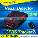 Integrated GPRS & GPS speed camera locator and remote radar detector car tracker