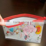 2014 cheap promotionclear plastic packaging bags/ clear vinyl pvc zipper bags/packaging bag