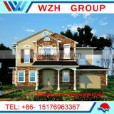 cheap prefabricated house and Luxury Modern well designed Prefabricated light steel villa