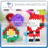 Mini Qute X-BLOCK Christmas Santa Claus motorcycle diamond plastic building block scale model educational toy NO.XJ 4994