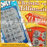 Quality Custom Vouchers, Custom Scratch Off Lottery Ticket, China Paper Printing Factory