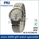 classical metal fashion watches with silvery plating stainless back men's wrist watch