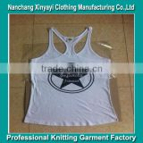 OEM Tank Tops Gym Wear Stringer Tank Top Wholesale Clothing / Stringer Vest With Printed wholesale from China supplier